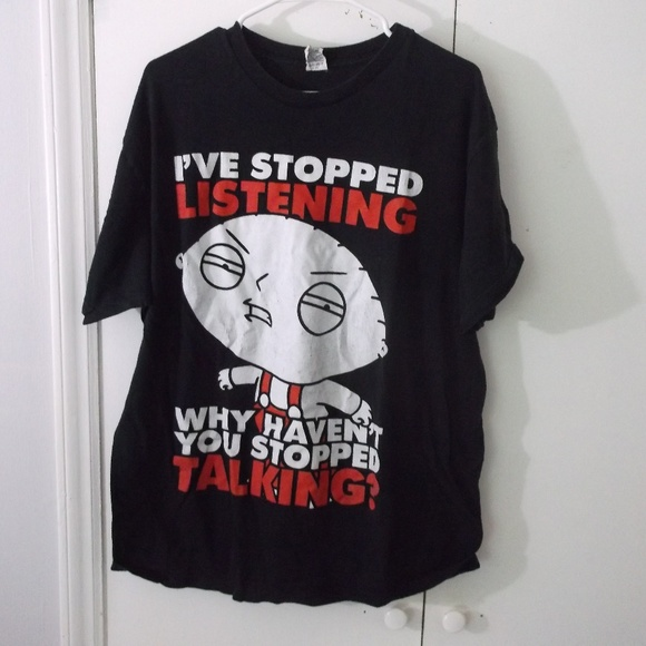 d52c5a2904 Family Guy Stewie Stopped Listening T-shirt XL